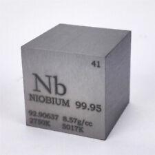 Niob Metall 25.4mm Würfel 99.95% Markiert Periodensystem Elementesammlung