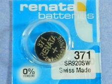 Renata  371  SR920SW     Batteries  Button Cell ,1Pc