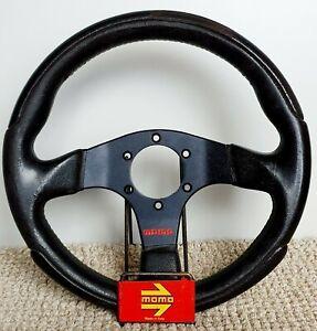 MOMO leather steering wheel 30 cm made in Italy very small KBA70225 RARE HONDA