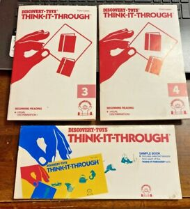 DISCOVERY TOYS THINK-IT-THROUGH 2 BEGINNING READING (3 & 4) BOOKS 1 SAMPLE BOOK