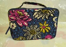 VERA BRADLEY Large Blush and Brush Makeup Case Bag African Violet Tags FREE SHIP