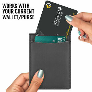2X RFID Blocking Credit/Debit Card Protector NFC Contact less Signal Blocker UK