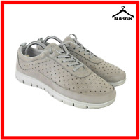 Hotter Womens Gravity Beige Nubuck Leather Active Trainers Shoes UK 6 / 39 Lace