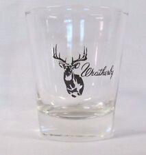 Weatherby Guns Logo on Clear Shot Glass