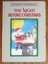 THE NIGHT BEFORE CHRISTMAS : Puppet Storybook : vintage