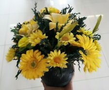 Artificial realistic flowers bunch in vase wedding decor