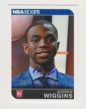 "Andrew Wiggins 2015 14-15 Panini National NBA HOOPS ""ON CARD"" AUTO Rookie SSP/SP"