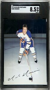 1979 Oilers Postcards Mark Messier RC SGC 8.5 NM-MT+