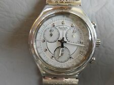 SWATCH MONTRE BRACELET HOMME CHRONO GRIS IRONY ROUGH & RUGGED YCS400G WATCH