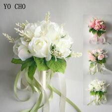 Artificial Roses Wedding Party Bridal Bouquet Bride Bridesmaid Throwing Flower