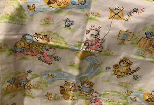 NEW Vtg 1982 Hallmark/Dundee Shirt Tales Receiving Blanket Baby Nursery