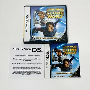 Star Wars The Clone Wars Jedi Alliance Nintendo DS CASE & MANUAL ONLY NO GAME