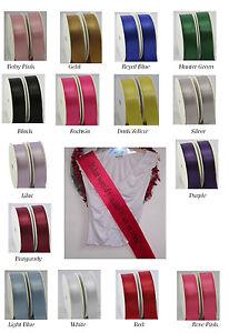 Sash Ribbon - 1.8 m long x10 cm wide - lots of colours