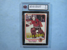 1981/82 O-PEE-CHEE NHL HOCKEY CARD #54 TONY ESPOSITO KSA 7 NM SHARP!! 81/82 OPC
