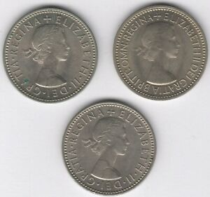 1953-55 English One Shilling Coins   Pennies2Pounds