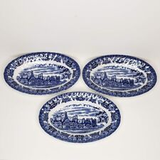3 Olde Country Castles Hostess Tableware Relish Dish British Anchor Transferware