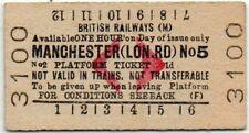 BR(M) Platform Ticket Manchester (Lon.Rd) No5 1d (F)