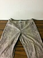 Margaret M Snake print jeans made in Canada multicolor sz 12 Polyester blend