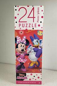Disney Junior Minnie with Dasie Duck 24 Piece Puzzle Size 9.1 X 10.3 New Sealed