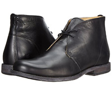 New in Box FRYE Mens Phillip Chukka Boot Black Vintage Leather Size 8 M US