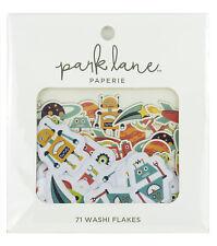 Park Lane Washi Flakes 71/Pkg-Robots and Rockets 159645734 NEW
