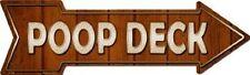 Poop Deck Nautical Boat Ship Decor Metal Novelty Directional Arrow Sign