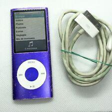  Apple iPod Nano 4eme Generation 16go violet A1285 + câble