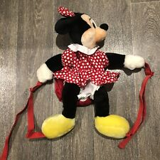 Vintage 90s Minnie Mouse Plush Backpack Disneyland Disney Merch EXCELLENT Cond