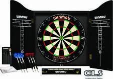 Winmau Professional Dartboard Set Diamond Dartboard 2 sets of Darts And Cabinet