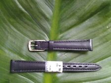 BRACELET MONTRE CUIR VÉRITABLE veau // MARQUE COBRA /  noir/ 14mm / REF:.TV41bis
