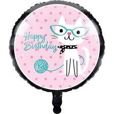Purr-fect Pretty Kitty Cat Kitten Party Supplies Helium Qlty Foil Balloon 45cm