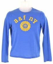 ABERCROMBIE & FITCH Boys Graphic Top Long Sleeve 14-15 Years Large Blue  W007