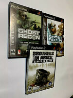 PlayStation PS2 Brothers In Arms Ghost Recon Advanced Warfighter Lot of 3 Games