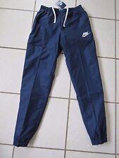 Nuevo Para hombres Genuino Nike Pantalones de entrenamiento, Chándal Pantalones, Azul Marino-M 832846