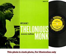 THEOLONIUS MONK, Sonny Rollins, WORK, Prestige PRLP-7169   RVG