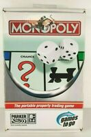 Monopoly - Games To Go - Parker - Retro - Used - 1 Piece Missing - Hasbro Travel