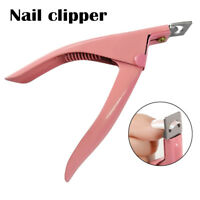 Nail Art False Nails Tips Acrylic UV Gel Cutter Clipper Manicure Tool - Pink