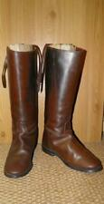 Vintage Gents Regent Brown English Leather Riding Boots UK 8 With Garter Strap