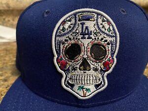 Los Angeles LA Dodgers Dia Los Muertos Sugar Skull Baseball Hat Snapback Cap
