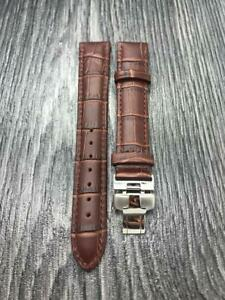 New Tissot 18mm brown Genuine Leather Strap with Buckle for Tissot watches