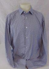 Robert Graham Blue & White Paisley Print Men's Shirt 43 /17