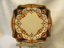 Royal Stafford England Fine Bone China Cake Plate Ornate Gold Floral Decor