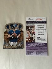 ELI MANNING AUTOGRAPHED ON CARD 2011 PANINI CROWN ROYALE JSA CERT PRISTINE COND