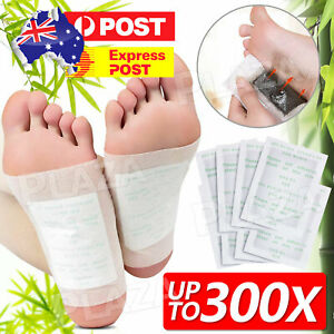 100 Pack Detox Foot Patches Pads Natural plant Toxin Removal 100 Sticky Adhesive