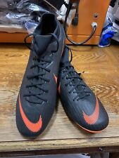 nike mercurial Superfly 6 Academy CR7 FG Black Orange   Soccer Cleat Size Men 10