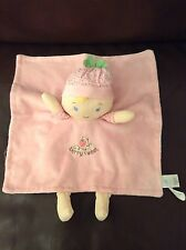 Gund Baby Berry Sweet Dolly Satineesnug Pink Blonde Doll Comforter Comfort Toy