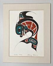 "KILLER WHALE by Tsimshian Artist DANNY DENNIS 9 x 6"" Art Card w 8 X 10"" Matting"