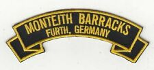 """Monteith Barracks, Fuerth 4"""" Germany embroidered  scrolltab patch"""