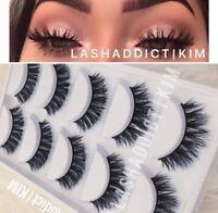 Mink Lashes Eyelashes 5 Pairs Wispy Eyelash Extension   Makeup Fur USA SELLER