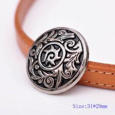 10PC Antique Silver Flower Pattern Engraved Celtic Leathercraft Saddles Conchos